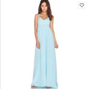 Amanda Uprichard Silk Maxi Dress Small